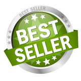 Button with Banner Best Seller. Round colored button with banner Best Seller Royalty Free Stock Photography