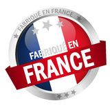 Button with Banner FABRIQUÉ EN FRANCE Royalty Free Stock Photography