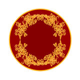 Button banner with a gilded ornaments vector Royalty Free Stock Photography