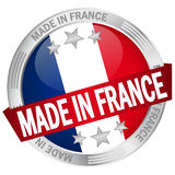 Button with banner Made in France Stock Image