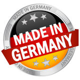 Button with banner Made in Germany Royalty Free Stock Photo