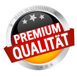 Button with Banner PREMIUM QUALIT�T Royalty Free Stock Photography