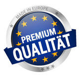 Button with Banner PREMIUM QUALITÄT Royalty Free Stock Image