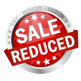 Button with banner SALE reduced Royalty Free Stock Images