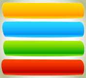 Button, banner shapes, backgrounds. Abstract tags, labels. Color Stock Photos