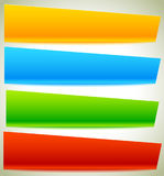 Button, banner shapes, backgrounds. Abstract tags, labels. Color Stock Photography