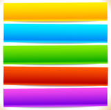 Button, banner shapes, backgrounds. Abstract tags, labels. Color Royalty Free Stock Image