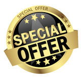 Button with Banner Special Offer royalty free illustration