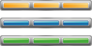Button bar, three color versio Stock Image