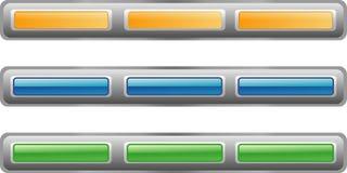 Button bar, three color versio Stock Image