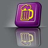 Button beer Royalty Free Stock Photo