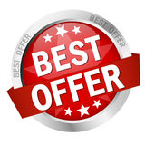 Button - best offer Royalty Free Stock Photography
