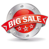 Button big sale. And sales promotion Royalty Free Stock Images