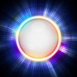 Button and blue light background Stock Photos
