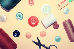 Button and bobbin Royalty Free Stock Photo
