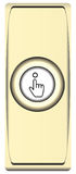 Button brass bell Stock Images