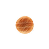 Button, brown texture, rectangle on inside Stock Image