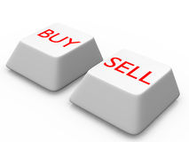 Button for buy and sell Royalty Free Stock Photo