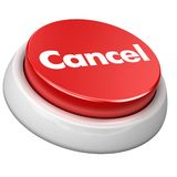 Button Cancel royalty free illustration