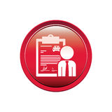Button with car contract and salesman Royalty Free Stock Photography