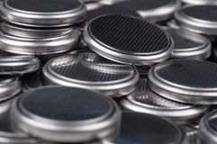 Button cells batteries Royalty Free Stock Photography