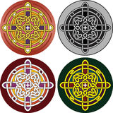 Button with Celtic a pattern Royalty Free Stock Photos