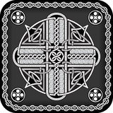 Button in celtic style Royalty Free Stock Images