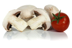 Button or champignon mushroom Stock Photo