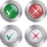 Button Check mark-Cancel stock illustration