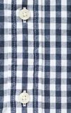 Button and check shirt fabric Royalty Free Stock Photo