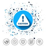 Attention caution sign icon. Exclamation mark. Royalty Free Stock Photography