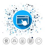 Click page icon. Browser window sign. Stock Images