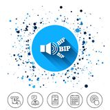 Speaker volume icon. Sound with BIP symbol. Royalty Free Stock Photography