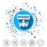 Strike sign icon. Group of people symbol. Stock Photography