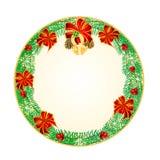 Button circular Christmas  lucky symbols vector Royalty Free Stock Image