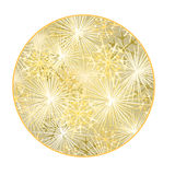 Button circular New Year fireworks gold background  vector. Illustration Stock Image