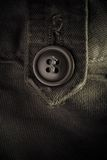 Button on clothes - fashion concept Royalty Free Stock Photos