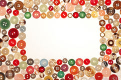 Button on clothes frame Stock Image