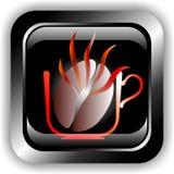 Button coffee Stock Photo