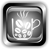 Button coffee Royalty Free Stock Photos