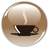 The button of coffee Royalty Free Stock Images