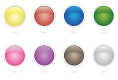 Button collection design Stock Image