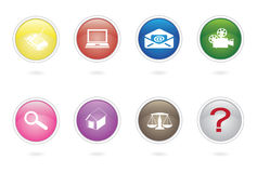 Button collection design Royalty Free Stock Photos