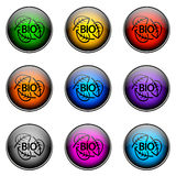 Button Color BIO Stock Photography