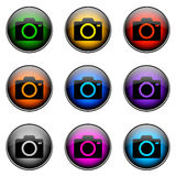 Button Color CAMERA Royalty Free Stock Photos