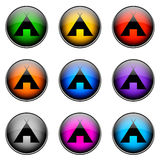 Button Color CAMPING Royalty Free Stock Photo
