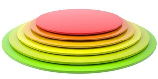 Button of colored discs Royalty Free Stock Photos