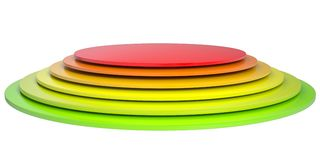 Button of colored discs Stock Photos