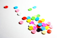 Button. Colorful button on white screen Royalty Free Stock Image