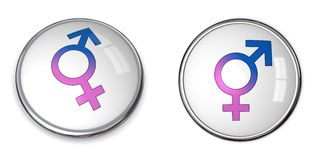Button Combined Male/Female Symbol Stock Images
